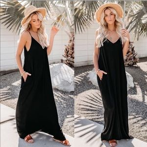 5d7cec9a60 Dresses & Skirts - Harem maxi dress adjustable straps sexy